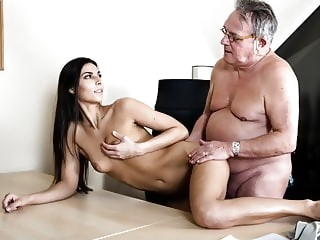 Senior Citizen Struggling With Horny Boss amateur babe blowjob video