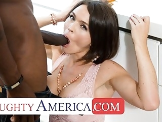 Naughty America - Krissy Lynn fucks a bully's dad babe hardcore interracial video