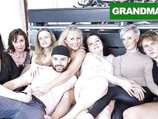 Insane Granny Orgy Will Make Your Cock Hard AF! blowjob bbw hardcore video