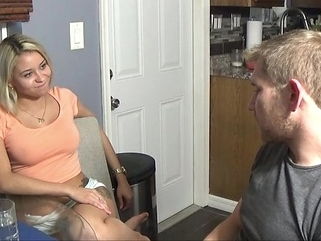 Blonde is not against homemade porn video camera guy... amateur big tits blonde video